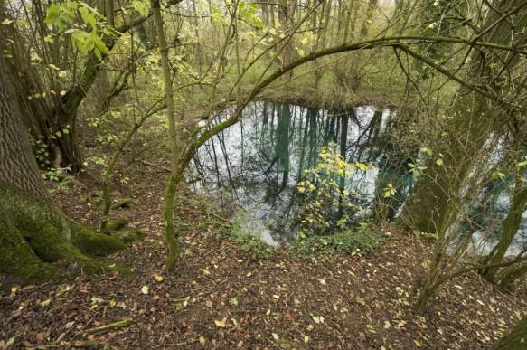 Scheldevallei in de omgeving van de bron.