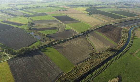 Leopoldkanaal en de Noorddijk te Watervliet.