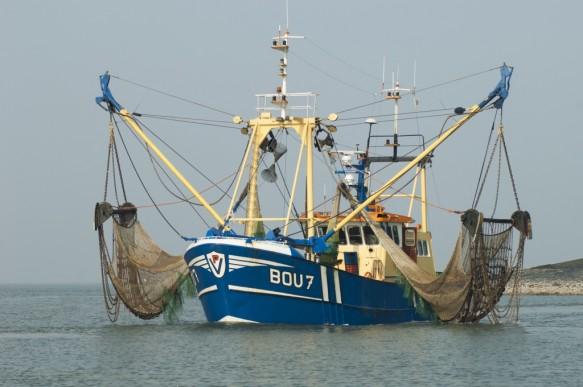 Vissersboot op de Westerschelde