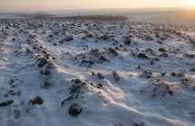 Akkers in de sneeuw