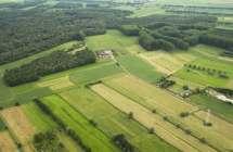 Agrarisch kleinschalig landschap.