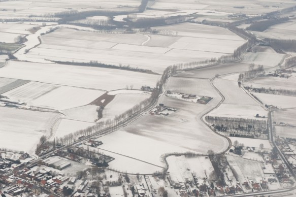 Polders in de winter.